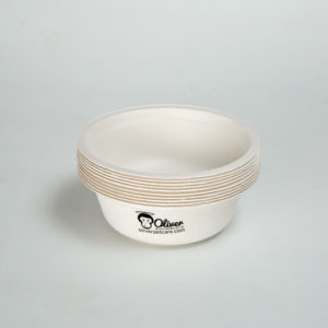 white dog bowl