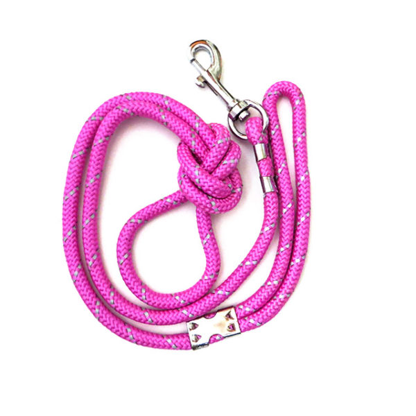 Reflective Dog leash pink