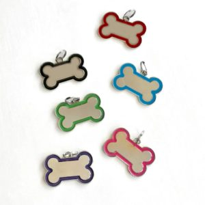 dog name tags with name and number