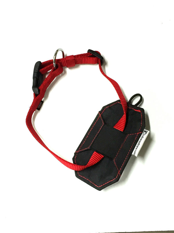 Red Dog Collar with pouch