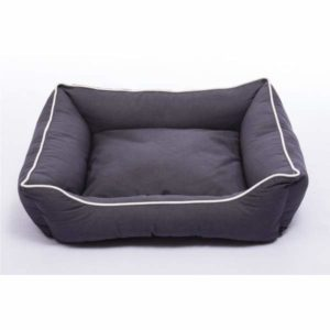 soft dog bed in grey