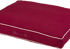 red dog bed for medium to large dog