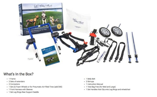 details of wheelchair kit