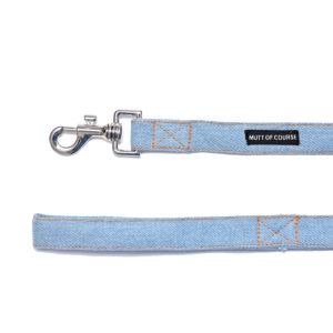 denim dog leash