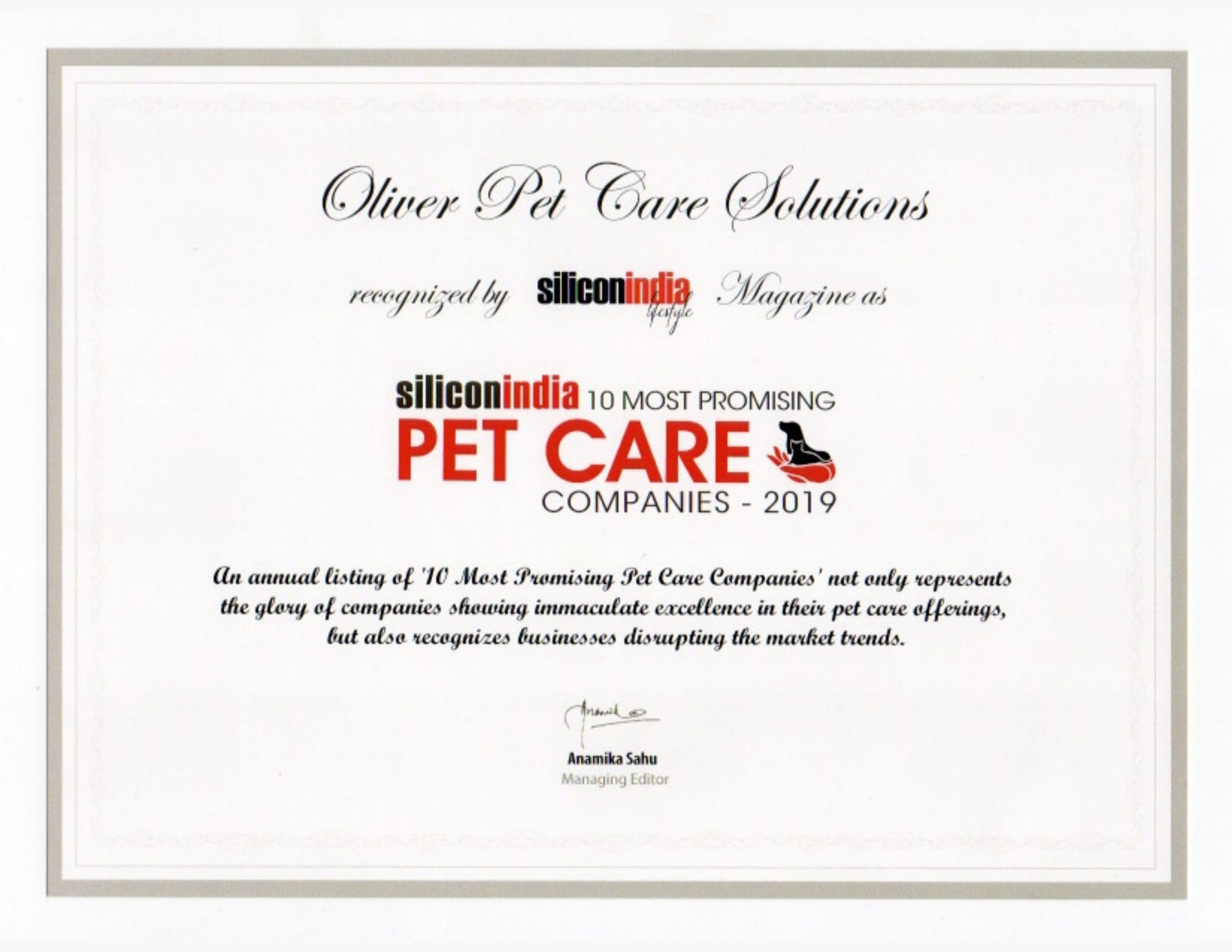 Silicon india Pet Care