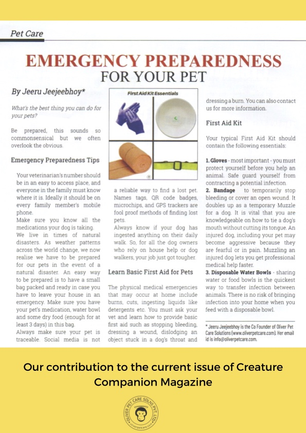 Emergency Preparedness for pets is essential, do not wait until you are in the midst of an emergency to figure out what you need for your pets.