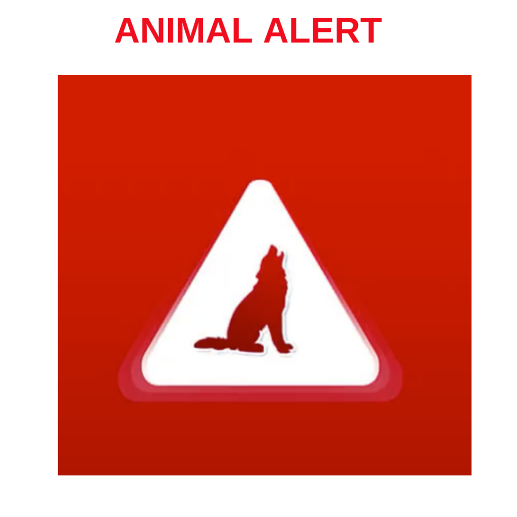 animal alert app for disasters