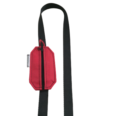 red pet pouch for leash